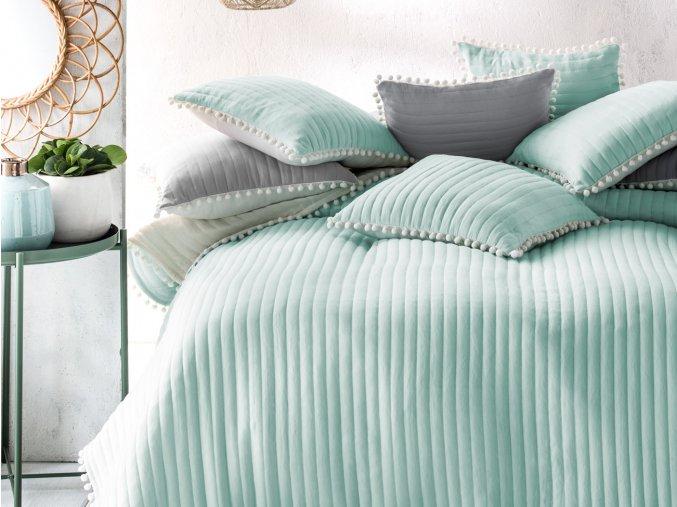 Přehoz na postel HARMONIA 220x240 cm mátová Mybesthome