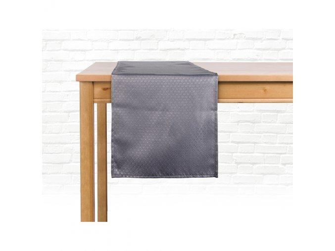 Ubrus - běhoun na stůl MARCELLO, 35x180 cm, tmavě šedá, ESSEX