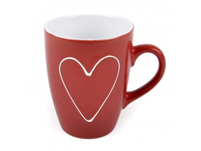 AMOUR keramický hrnek s motivem srdce, 325 ml Essex