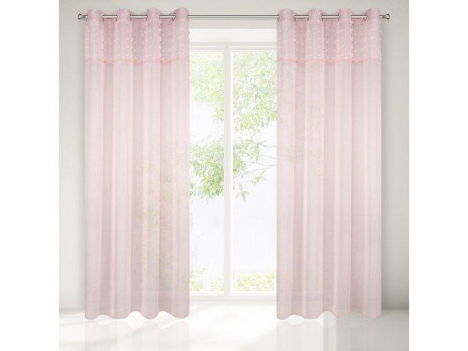 Dekorační záclona ARIETTA růžová 140x250 cm MyBestHome