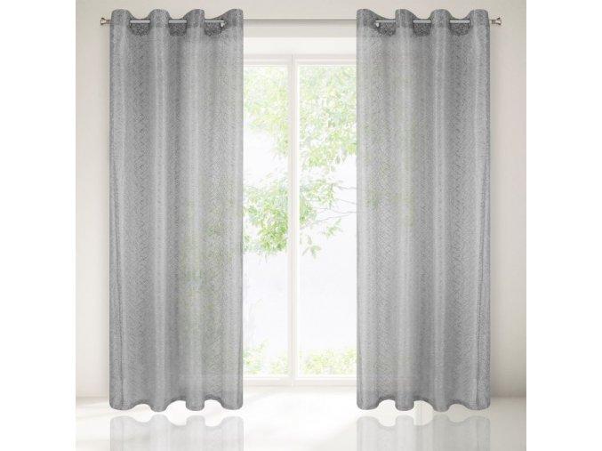 Dekorační záclona CARMEN stříbrná 140x250 cm MyBestHome