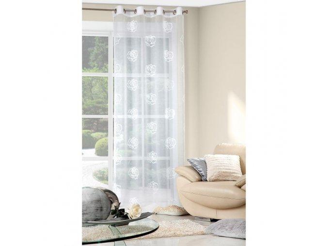Dekorační vzorovaná záclona PEGY 140x250 cm MyBestHome