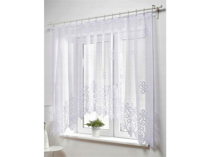 Dekorační oblouková krátká záclona ZENA bílá 300x150 cm MyBestHome