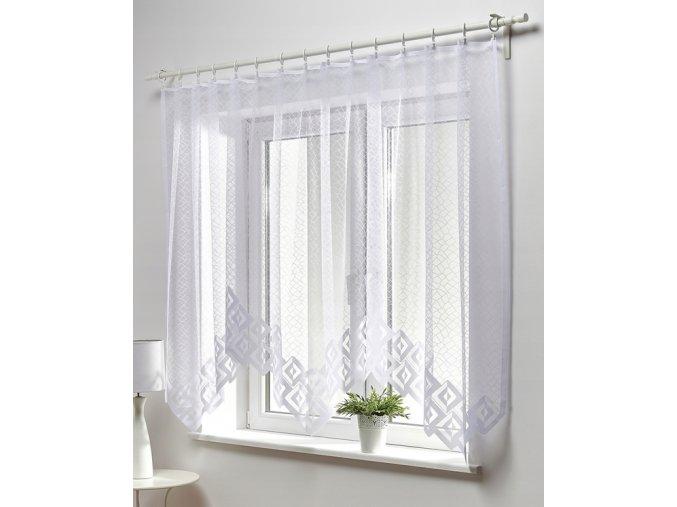 Dekorační oblouková krátká záclona IWONA bílá 300x150 cm MyBestHome