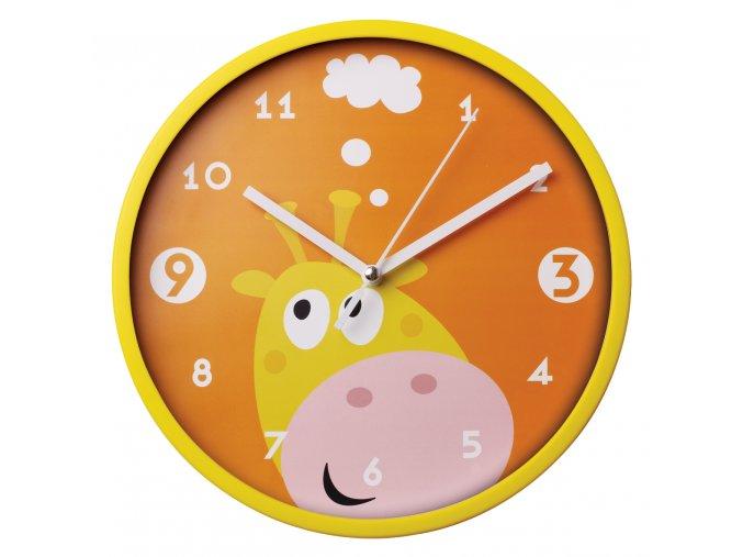 Nástěnné hodiny do dětského pokoje ŽIRAFA Ø 22,5 cm Mybesthome