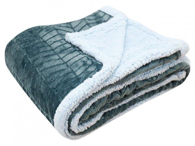 Přehoz - mikrovláknová deka s beránkem KAILA 02 -150x200 cm Essex