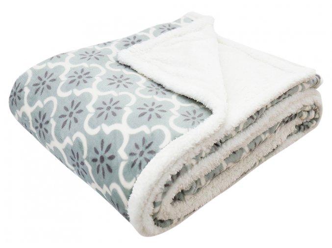 Přehoz - mikrovláknová deka s beránkem KAILA 10 -150x200 cm Essex