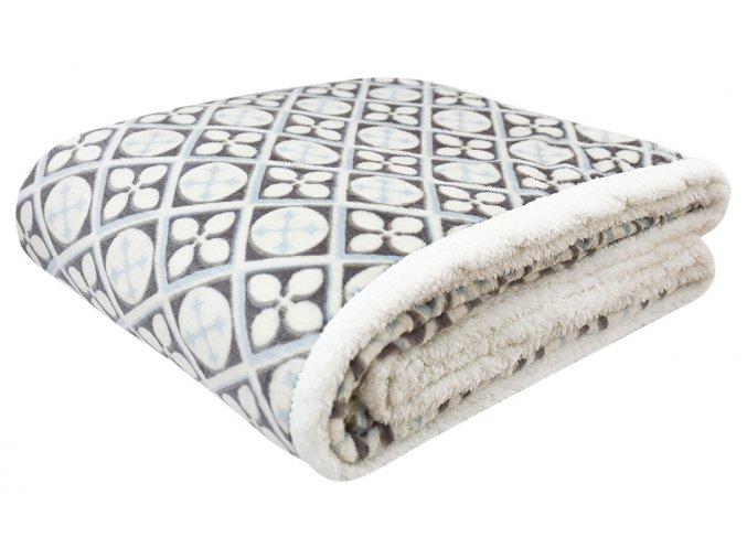 Přehoz - mikrovláknová deka s beránkem KAILA 11 -150x200 cm Essex