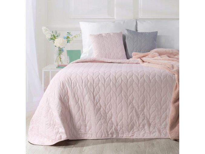 Přehoz na postel ZOLA 200x220 cm růžová Mybesthome