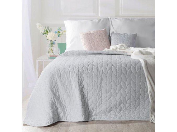 Přehoz na postel ZOLA 200x220 cm šedá Mybesthome