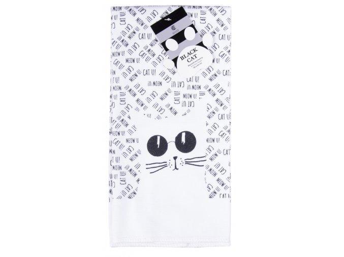 Utěrka BLACK CAT motiv A mikrovlákno 38x63 cm, Essex