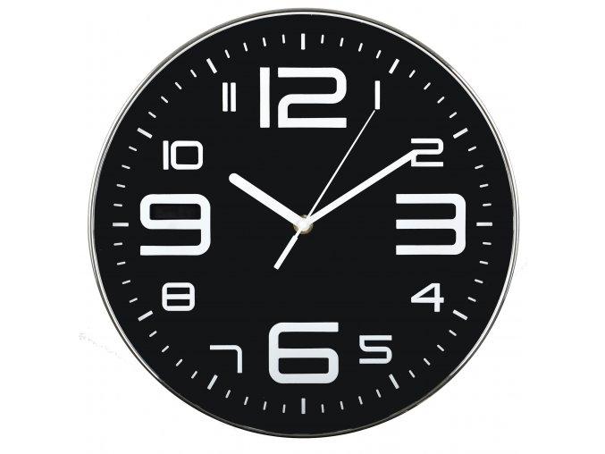 Nástěnné hodiny SEGNALE černá Ø 30 cm Mybesthome
