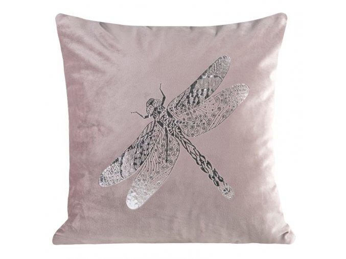 Polštář DRAGONFLY růžová 45x45 cm Mybesthome