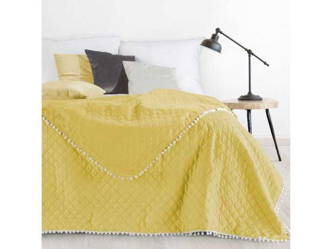 Přehoz na postel MICHELL 220x240 cm žlutá Mybesthome