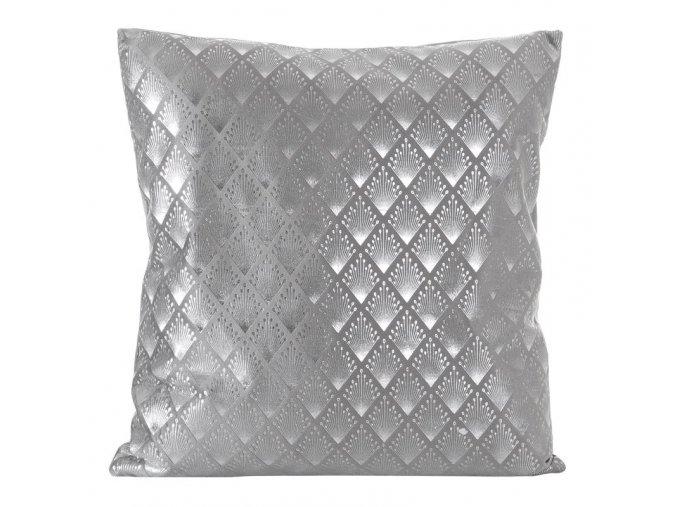 Polštář KINGS stříbrná 45x45 cm Mybesthome