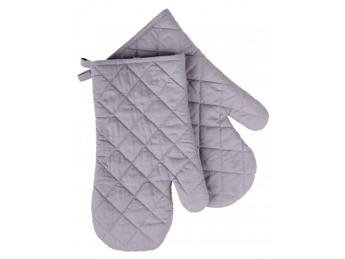 Kuchyňské bavlněné rukavice chňapky MONO šedá, 100% bavlna 19x30 cm Essex