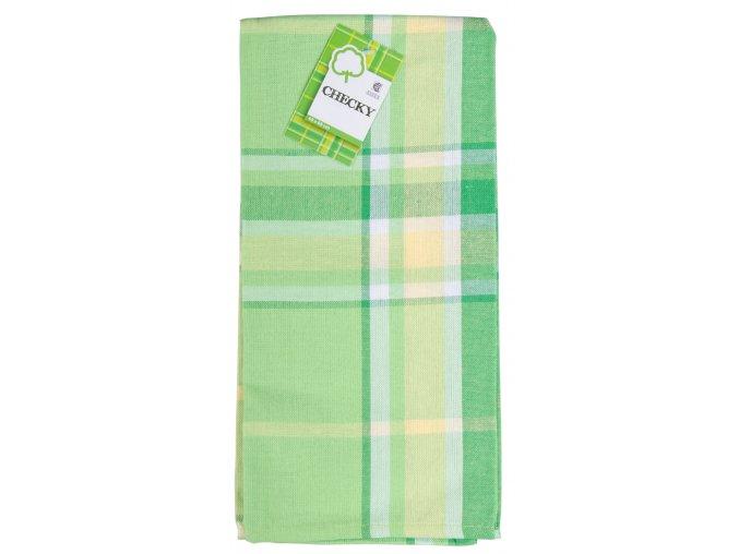 Utěrka bavlněná CHECKY zelená 45x65 cm Essex