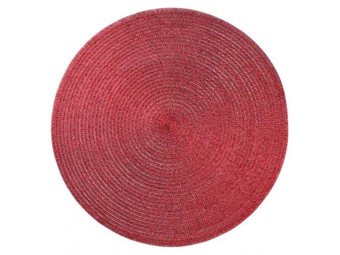 Prostírání kulaté GLITTER červená Ø 38 cm Mybesthome