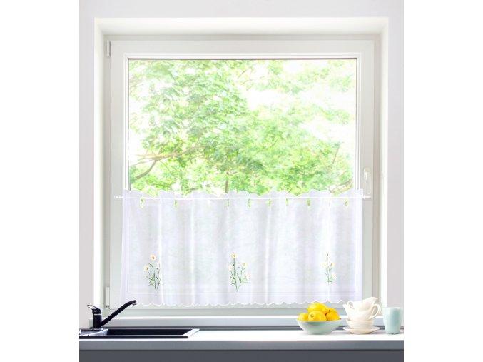 Dekorační krátká záclonka do kuchyně RUMIANKI 45x150 cm MyBestHome