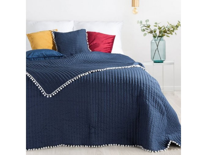Přehoz na postel MIAMI 220x240 cm modrá Mybesthome