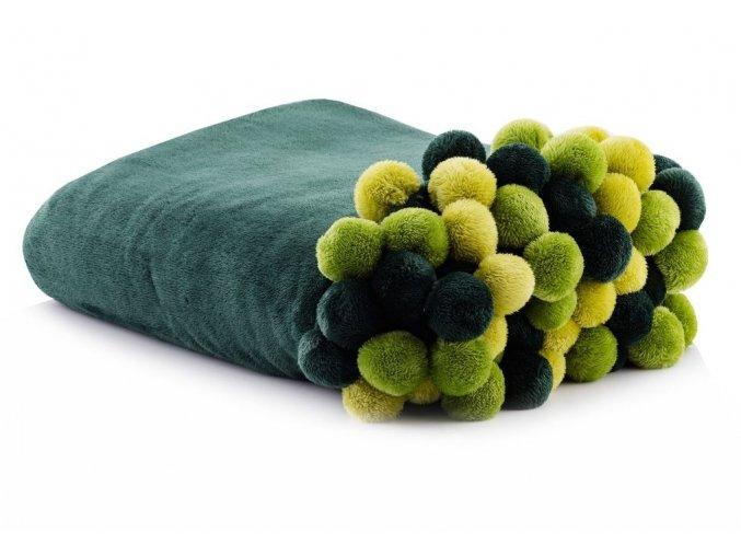Deka z mikrovlákna PONNIE 150x200 cm zelená HOME & YOU
