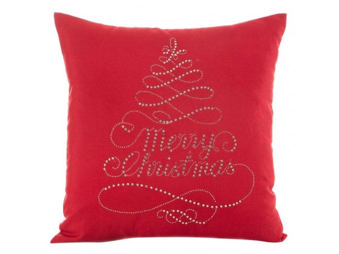 Polštář MERRY CHRISTMAS červená MyBestHome 45x45cm