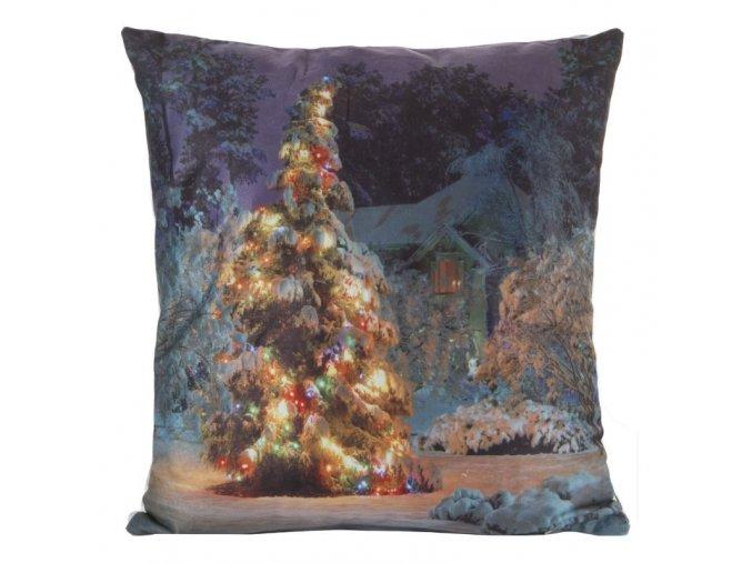 Polštář CHRISTMAS LIGHT 03 MyBestHome 40x40cm zimní motiv - svítící polštářek