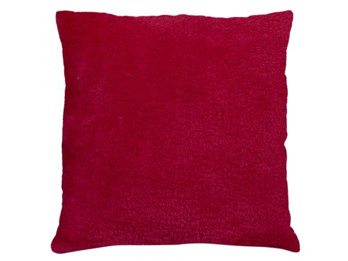 Polštář ALASKA 40x40 cm červená, mikrovlákno, ESSEX