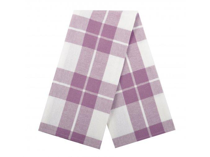 Utěrka LOVE bavlněná fialová, 45x65 cm Essex