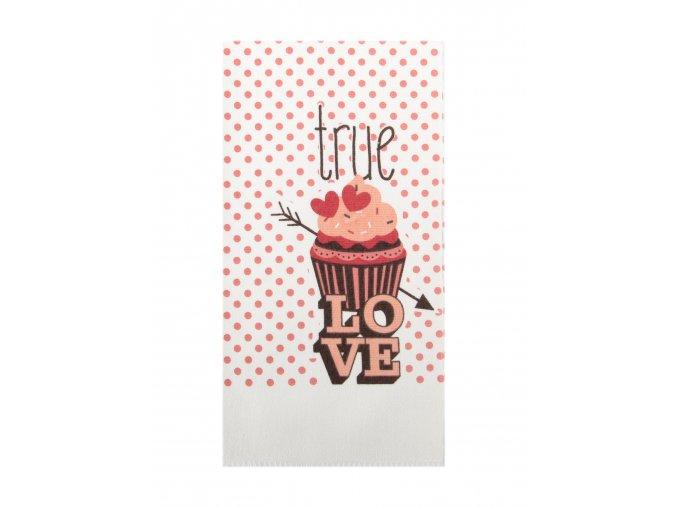 Utěrka LOVE - TRUE LOVE mikrovlákno 38x63 cm, Essex
