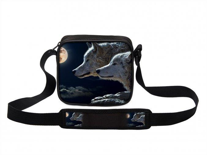Taška přes rameno MINI s vlkem 17 MyBestHome 19x17x6 cm