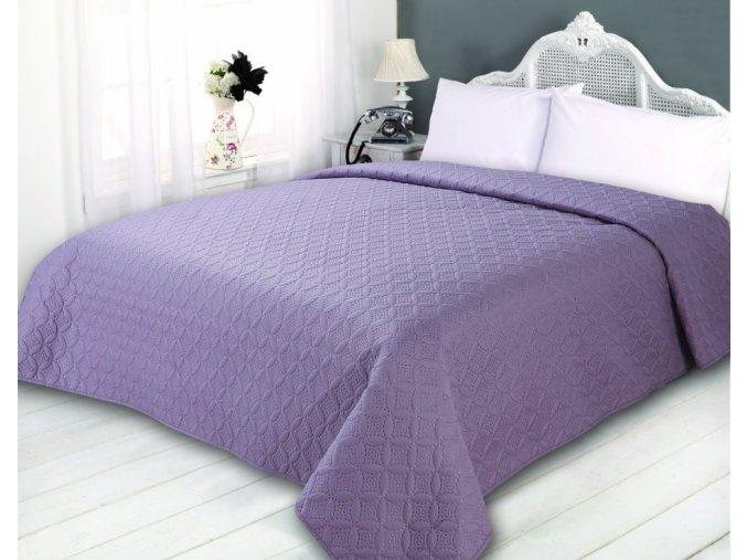 Přehoz na postel SONIC 220x240 cm purpurová ESSEX