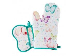 Kuchyňská rukavice/chňapka TYPO, 18x30 cm/20X20 cm HOME & YOU, 100% bavlna