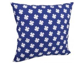 Bavlněný polštář ČTYŘLÍSTEK modrá/bílá 40x40 cm, Mybesthome