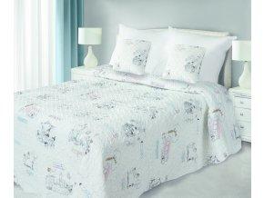 Přehoz na postel TEREZA 170x210 cm krémová Mybesthome