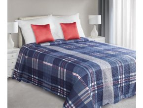Přehoz na postel HARRI 220x240 cm modrá Mybesthome