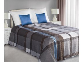 Přehoz na postel SAKU 220x240 cm šedá/stříbrná Mybesthome