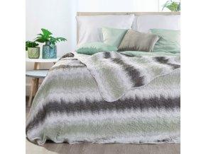 Přehoz na postel ILMO 220x240 cm stříbrná/šedá Mybesthome
