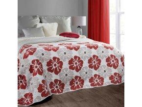Přehoz na postel LAINA 220x240 cm béžová/vínová Mybesthome