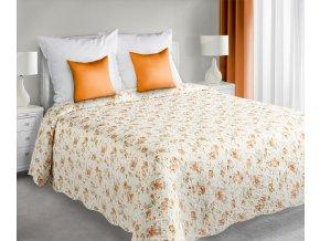 Přehoz na postel VEERA 220x240 cm krémová/pomerančová Mybesthome