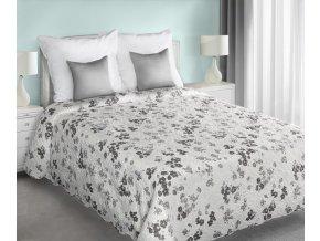 Přehoz na postel TORSTI 220x240 cm krémová/šedá Mybesthome