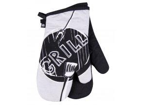 Kuchyňské bavlněné rukavice chňapky GRILL, šedá, 100% bavlna 18x30 cm Essex