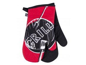 Kuchyňské bavlněné rukavice chňapky GRILL, červená, 100% bavlna 18x30 cm Essex