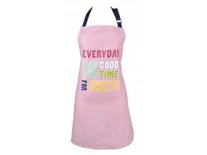 Kuchyňská bavlněná zástěra PICNIC, růžová, Essex, 100% bavlna