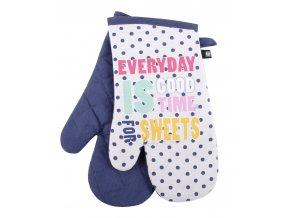 Kuchyňské bavlněné rukavice chňapky PICNIC, béžová, 100% bavlna 18x30 cm Essex
