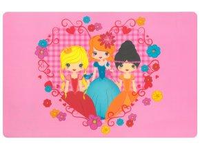 Prostírání pro děti PRINCEZNY 29x43 cm růžová Mybesthome