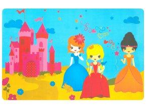 Prostírání pro děti PRINCEZNY 29x43 cm modrá Mybesthome