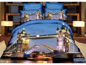 Povlečení NIGHT TOWER BRIDGE 3D francouzské povlečení, 1x 200x220 cm, 2x povlak 70x80 cm, MyBestHome