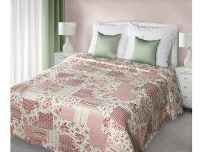 Přehoz na postel JULIEN 220x240 cm růžová patchwork Mybesthome