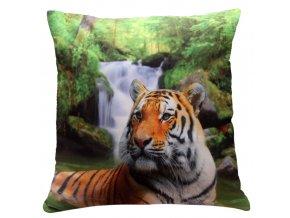 Polštář TYGR MyBestHome 40x40cm fototisk 3D motiv tygra